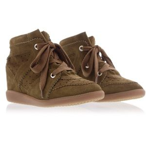 Isabel Marant Etoile Bobby Suede Wedge Sneaker